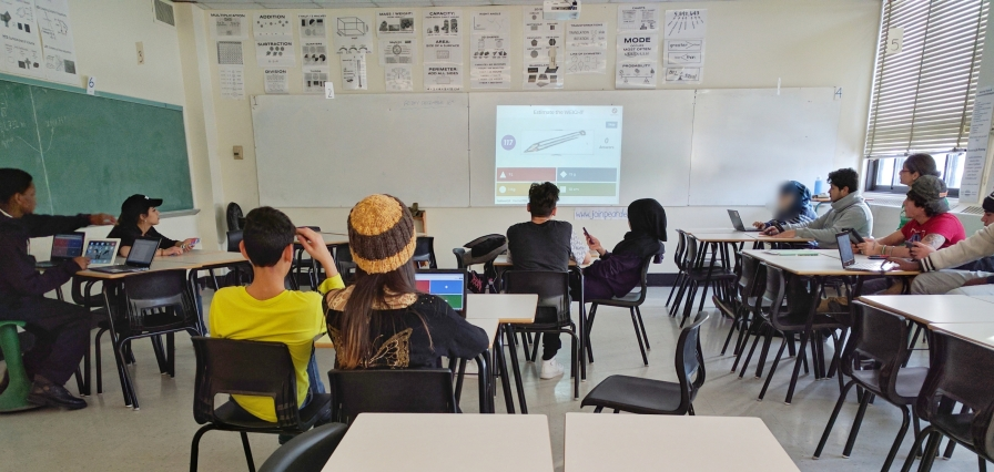 Kahoot! A favourite in grade 3/4 English Language Development math — we used it as a diagnostic to introduce new concepts with visuals and as a fun tool for some quick retrieval practice. This was our final review on my last day of practicum. Photo Credit: Laura Wheeler